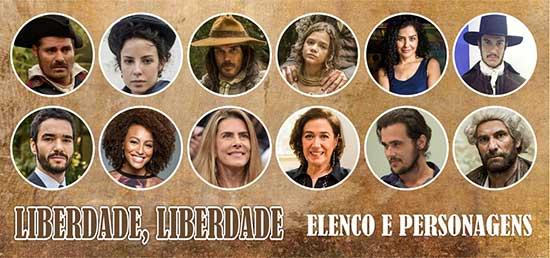 Elenco Personagens Liberdade Liberdade