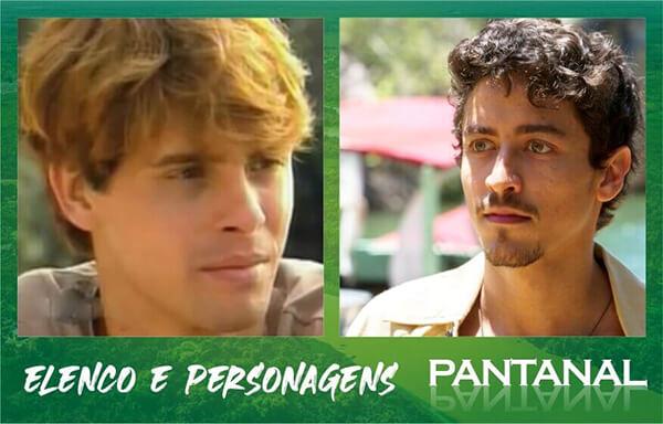 Jove Jesuíta Barbosa da novela Pantanal e Marcos Winter