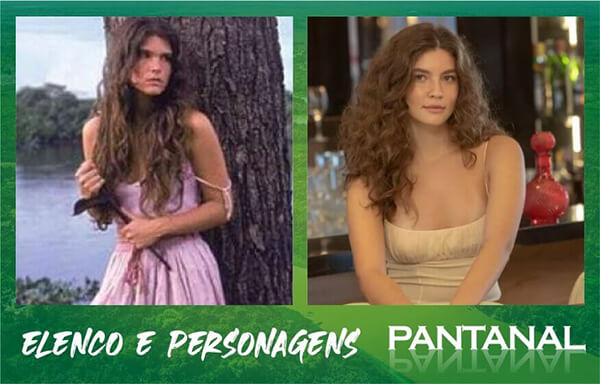 Juma Alanis Guillen e Cristiana Oliveira da novela Pantanal